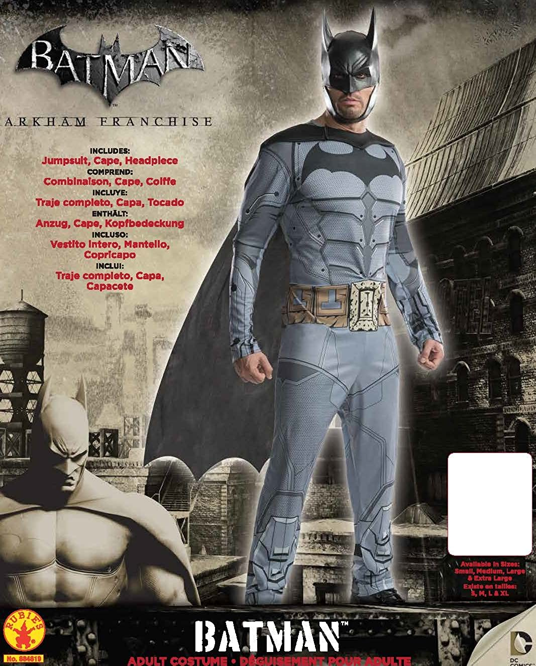 Rubies Costume Mens Arkham City Adult Batman