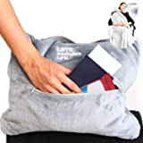 4 in 1 Travel Blanket - Lightweight, Warm and Portable. The Latest Small Compact Airplane Blankets & Pillow Set. Made of…