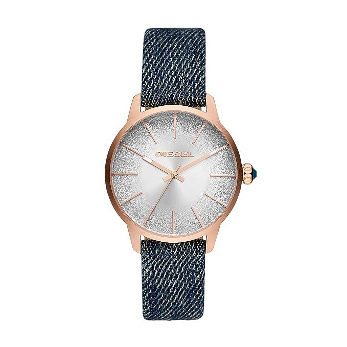 7d48cad564ba Diesel Reloj Analogico para Mujer de Cuarzo con Correa en Tela DZ5566   Amazon.es  Relojes