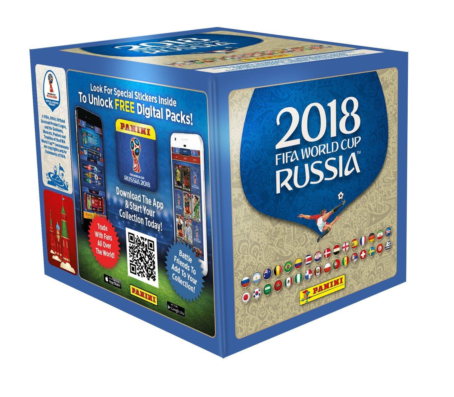panini coupe du monde 2018 stickers bo te de 50 pochettes stickers version ebay. Black Bedroom Furniture Sets. Home Design Ideas