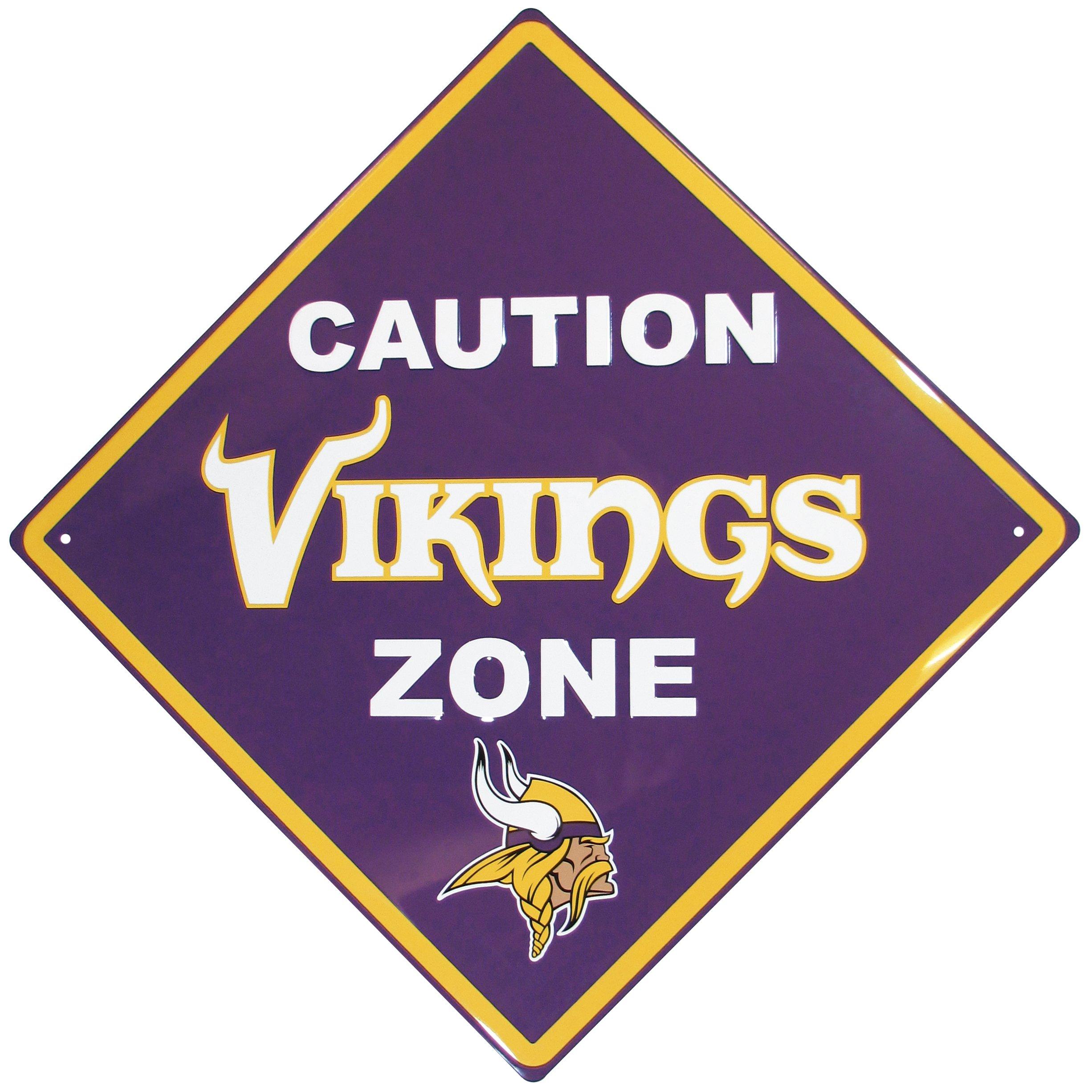 NFL Minnesota Vikings Caution Wall Sign Plaque, Purple, 14'' by Siskiyou