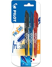 Pilot Frixion - Rotulador de bola con tinta borrable (3 unidades), varios, color es