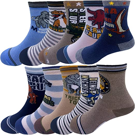 6 Pairs Assorted Boys Socks Size Ages 6-8 Years Kids Casual Sport Youth New !