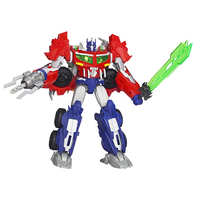 Transformers Prime Beast Hunters Voyager Class Optimus Prime Figure 6 5  Inches