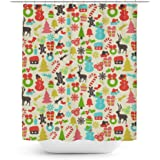 Queen Of Cases Hidden Mickeys Colorful Retro Disney Christmas Shower Curtain