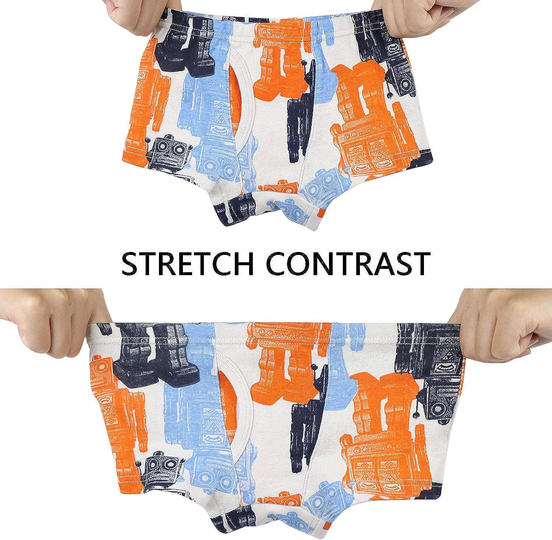 Pack of 6 Zebricolo Boys Cotton Underwear Briefs Boys Boxer Shorts Briefs 1-7 Years