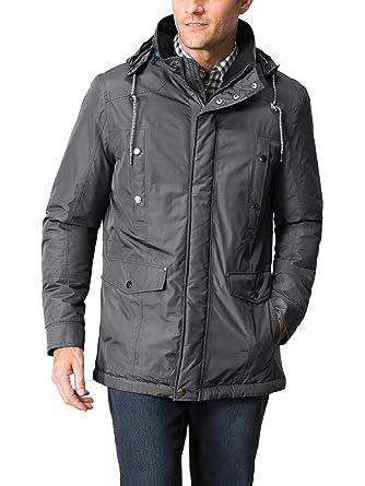 Walbusch Herren Aquastop Allwetter Jacke in normalen Größen einfarbig Grau  Gr. 25 d4c5936776