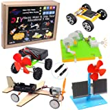 CYOEST DIY 5 Set STEM Lab&Science Kits Toys for Kids, Electric Motor Assembly Solar Powered Kit, DIY Educational…