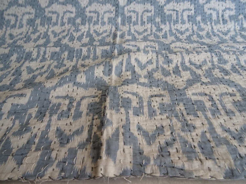 Housse de Matelas Tribal Asian Textiles Ikat Imprim/é King Size Kantha Bohemian Parure de lit Kantha Taille 228,6/x 274,3/cm 05 King Kantha Couvre-lit Kantha Couverture