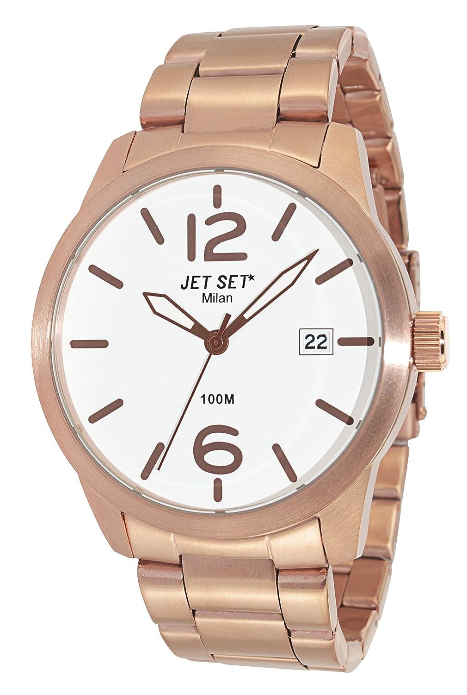 Jet Set Herren-Armbanduhr Milan Analog Quarz Edelstahl J6280R-162