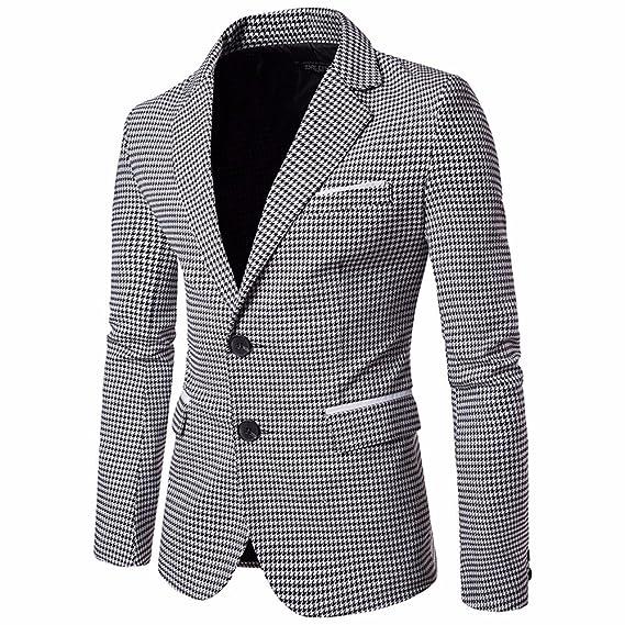 STRIR Chaqueta De Traje De Moda Slim Fit De Blazer Tweed Lattice Los Hombres Dos Botón Chaqueta De Diseño Elegante De La Fiesta De Boda Chaqueta ...