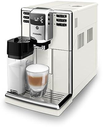Philips 5000 series - Cafetera (Independiente, Máquina espresso, 1,8 L, Granos de café, De café molido, Molinillo integrado, Blanco): Amazon.es: Hogar