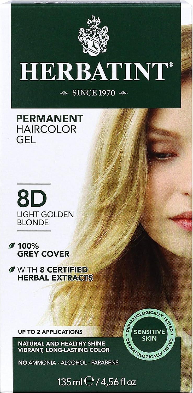 HERBATINT - Permanent Herbal Haircolour Gel 8D Light Gold Blonde - 135 ml