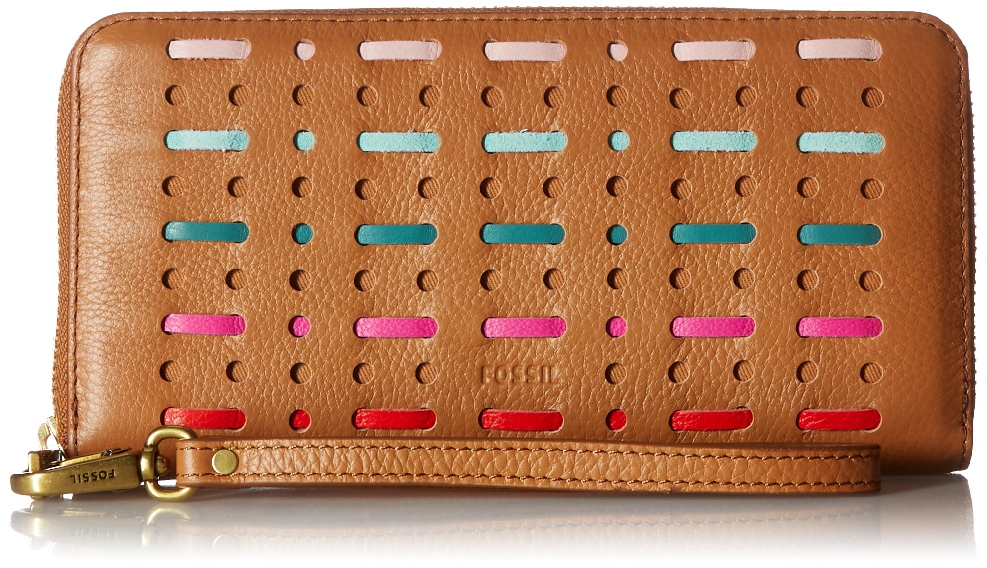Emma Large Zip Wallet Wallet, Multi, One Size by Fossil