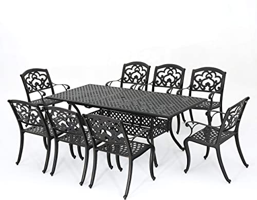 Christopher Knight Home Abigal Outdoor Cast Aluminum Dining Set