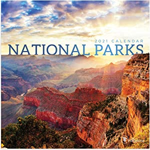"""TF PUBLISHING 2021 National Parks Mini Wall Calendar - Photographs with Contacts and Notes Space - Home or Office Planning and Organization in Compact Spaces - Premium Gloss Paper 7""""x7"""""""
