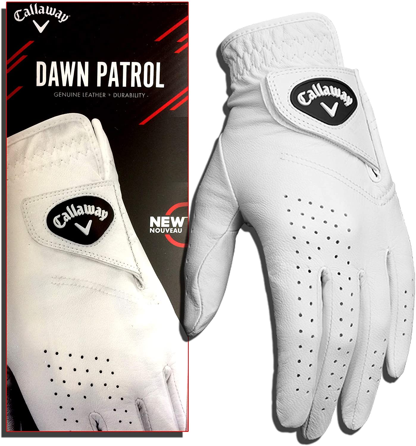 Callaway Golf Men's Dawn Patrol 100% Premium Leather Golf Glove