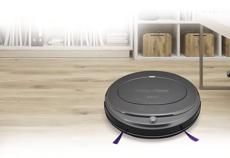Robot Aspirador Inteligente con Sensor Anticolisión, autonomía 60-90 min. Mando a Distancia, Potente batería, 4 Modos de aspiración: Amazon.es: Hogar