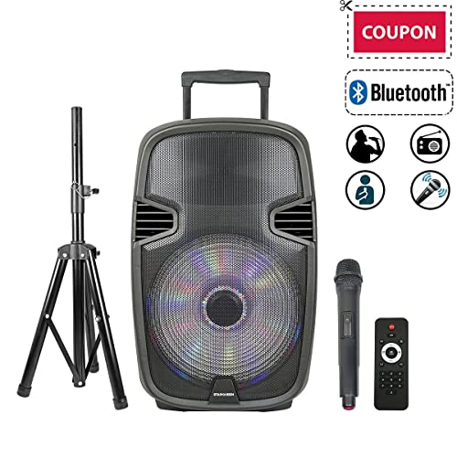 portable pa system with wireless mic. Black Bedroom Furniture Sets. Home Design Ideas