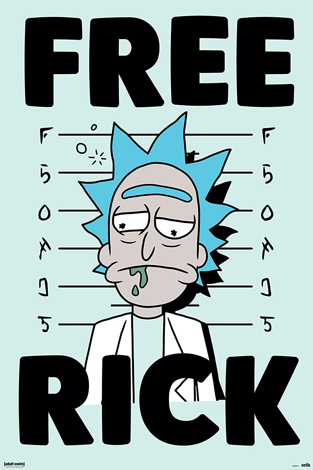 Grupo Erik Poster Rick and Morty Free Rick: Amazon.es: Hogar