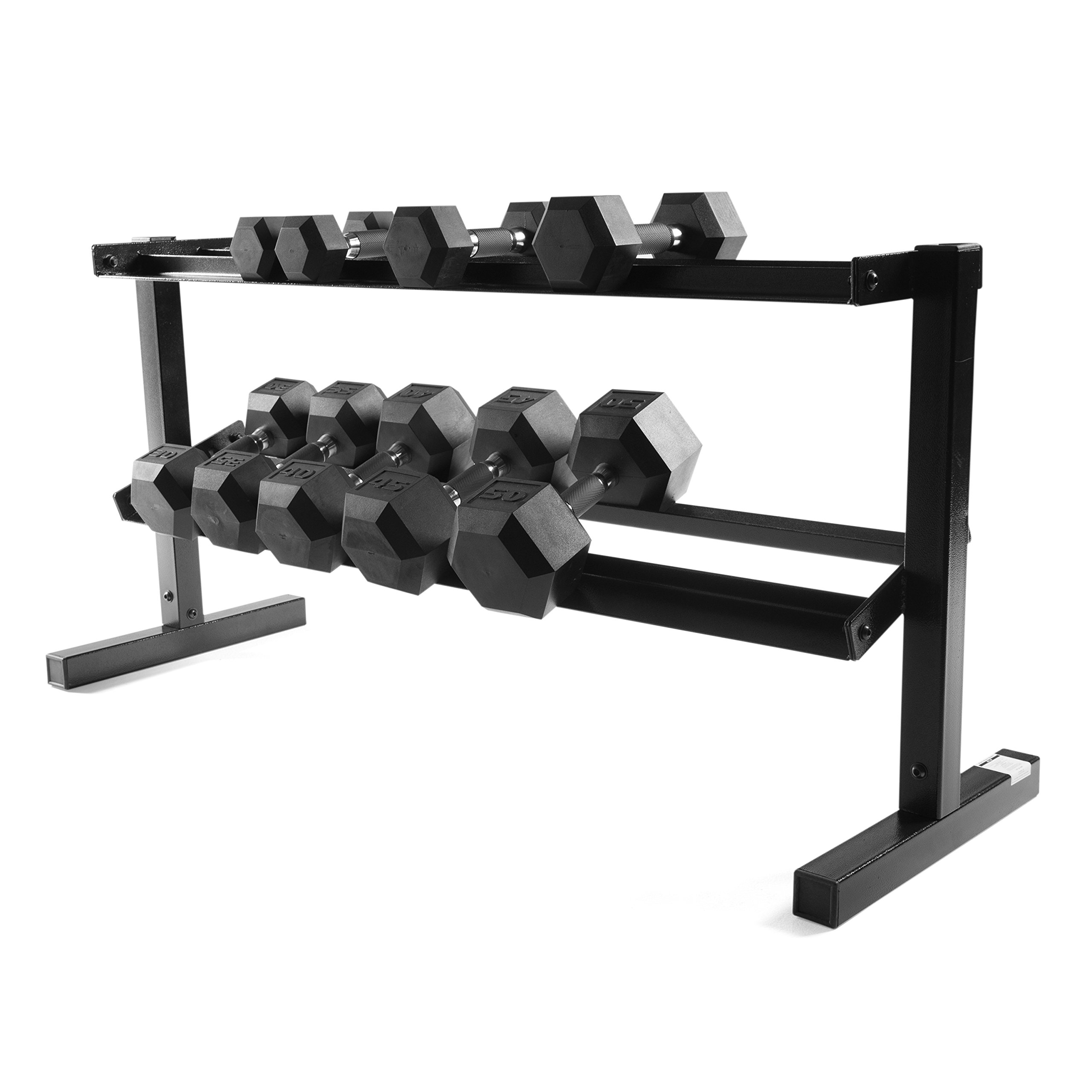 CAP Barbell 2-tier, 50'' Dumbbell Storage Rack / Dumbbell Rack / Dumbbell Rack Stand / Rack Only by CAP Barbell