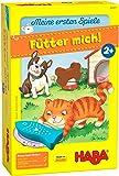 HABA 305473 – Mina första spel – matare mig! Leksakslek från 2 år för 1–5 spelare med 5 träfigurer för husdjurstema…