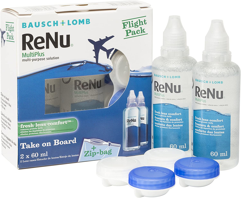 BAUSCH + LOMB - Renu® MultiPlus Solución Única - Kit viaje Pack 2 botellas x 60 ml