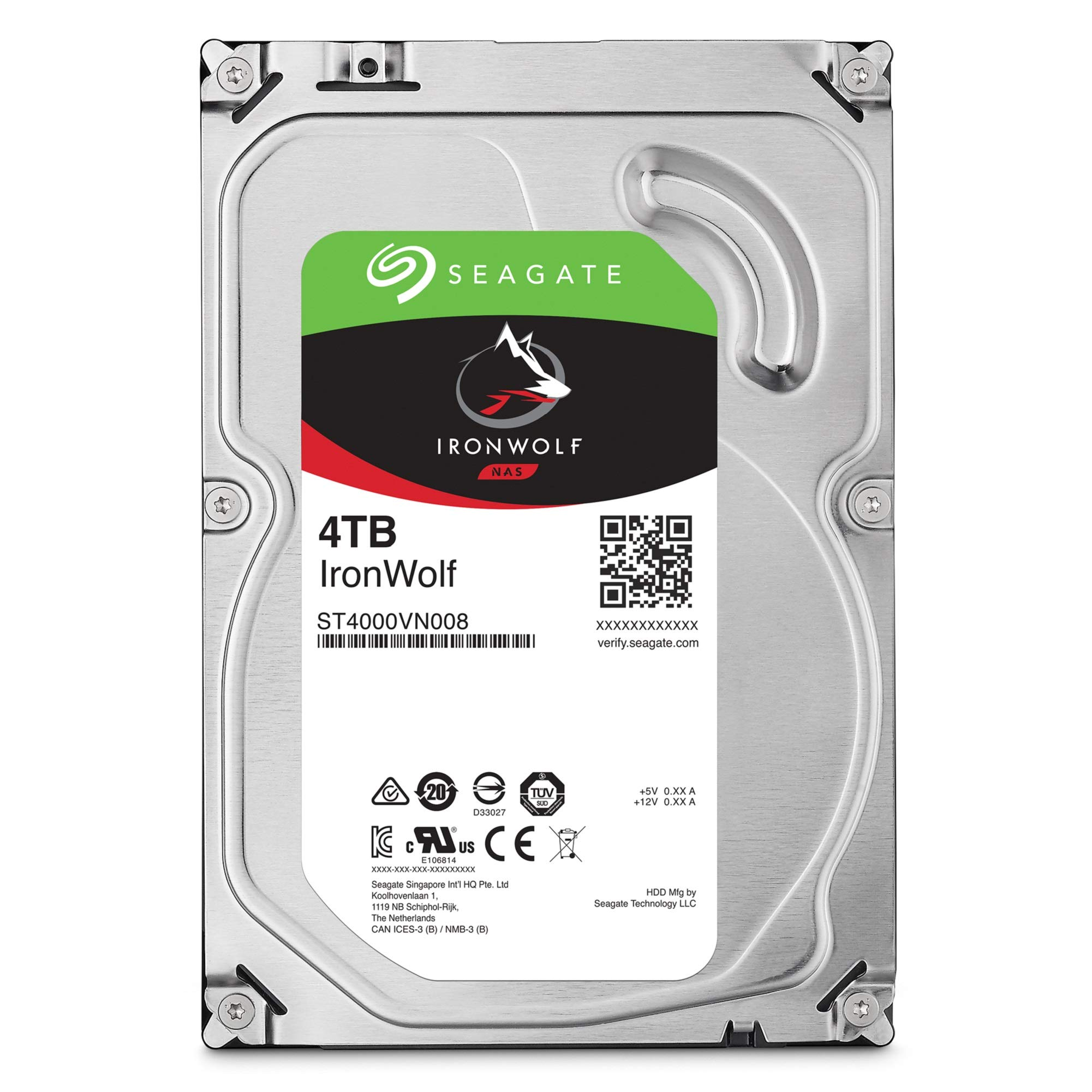 Seagate IronWolf 4TB NAS Internal Hard Drive HDD - 3.5 Inch SATA 6Gb/s 5900 RPM 64MB Cache for RAID Network Attached Storage - Frustration Free Packaging (ST4000VN008) by Seagate (Image #2)