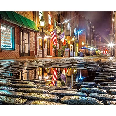 Springbok Puzzles - Wharf Street - 1000 Piece Jigsaw Puzzle - Large 30 Inches by 24 Inches Puzzle - Made in USA - Unique Cut Interlocking Pieces: Toys & Games