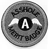 WZT Asshole Merit Badge Morale - Tactical Patch (gray)