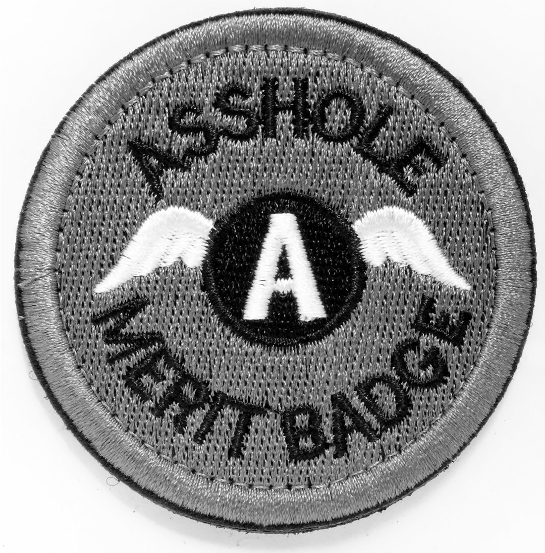 WZT Asshole Merit Badge Morale - Tactical Patch (gray) 4337026119