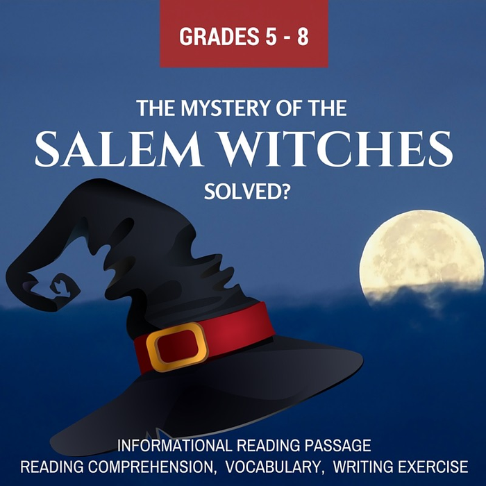 Halloween Worksheets For 5th Grade (Fall Informational Reading - The Mystery of the Salem)