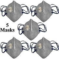 Tdas anti pollution mask for men women V-410-V n95 pm2.5 air masks reusable - 5 Masks Only