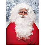 Santa Claus - Beard, Wig & Eyebrows - White