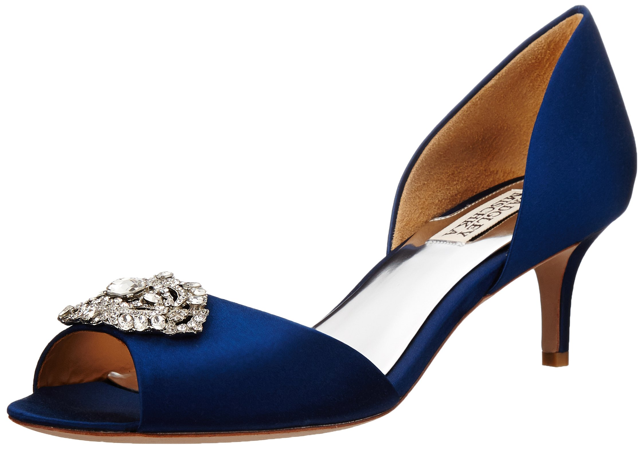 Badgley Mischka Women's Petrina D'Orsay Pump,Navy,6.5 M US