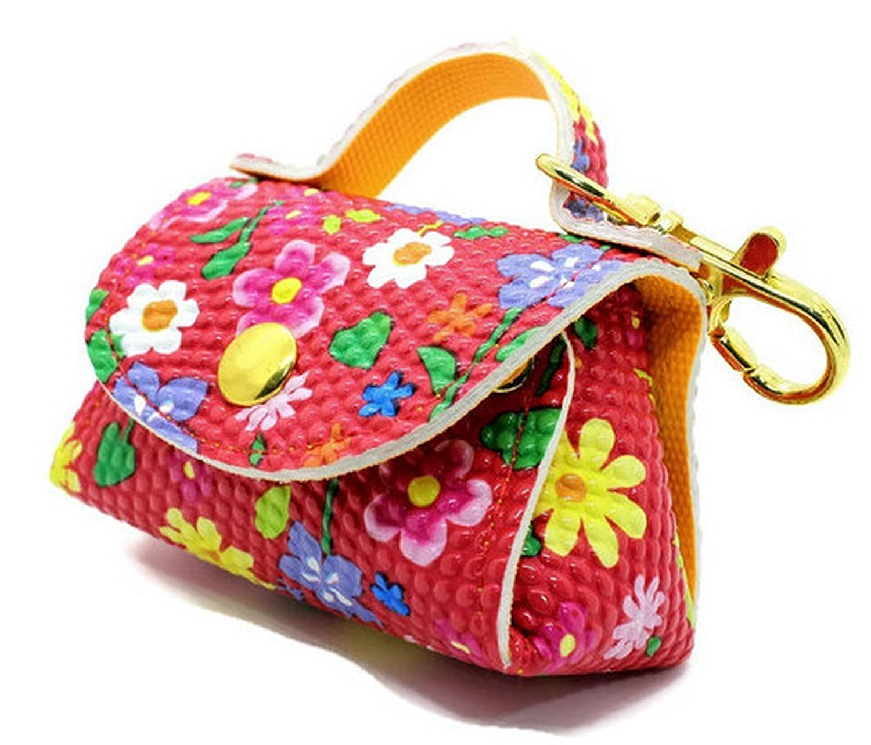 001142 New Unique Fashion Coin Purse Key Chain Handbag Bag Leather Gift Ring