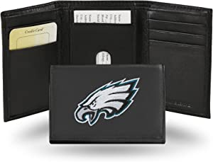 Rico RTR2501 NFL Philadelphia Eagles Embroidered Genuine Leather Trifold Wallet
