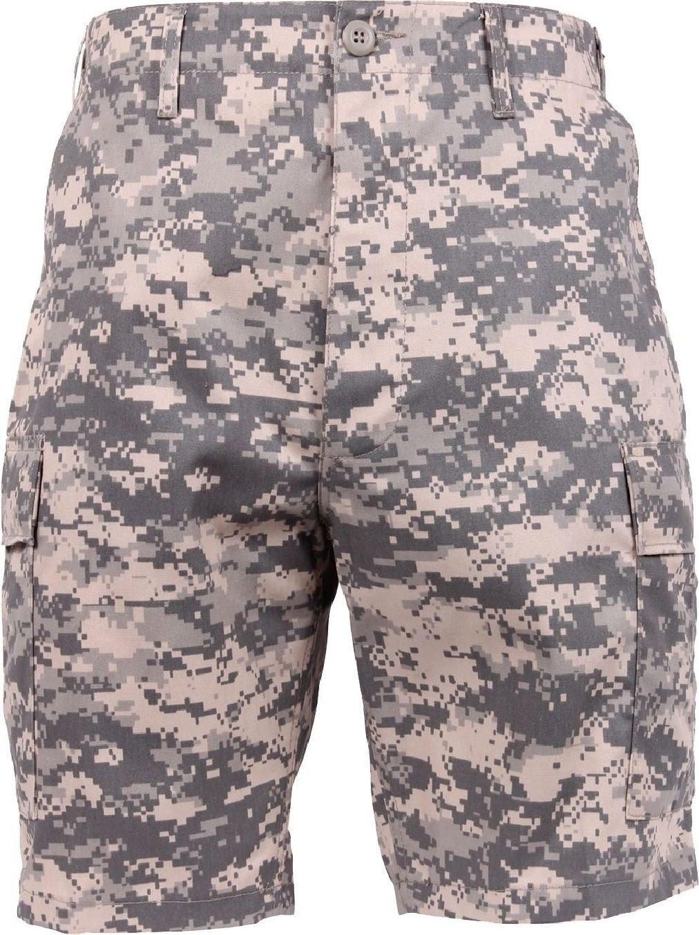 Mens ACU Digital Camouflage Military BDU Cargo Shorts
