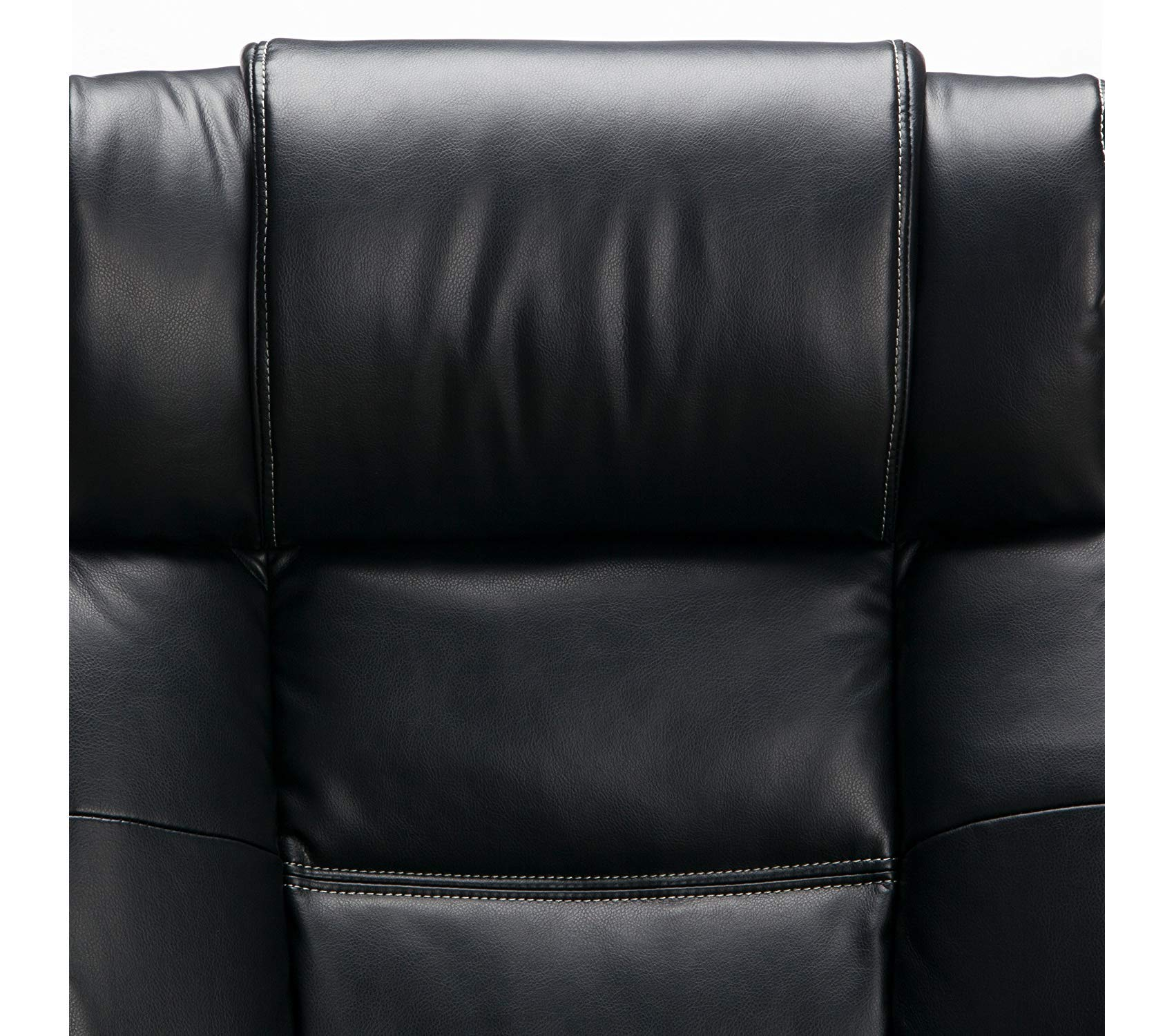 Оfm Avenger Series Big and Tall Leather Executive Chair - Black Computer Chair with Arms, Black/Chrome by Оfm (Image #8)