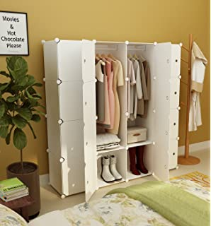 KOUSI Portable Clothes Closet Wardrobe Bedroom Armoire Storage Organizer  With Doors, Capacious U0026 Sturdy.