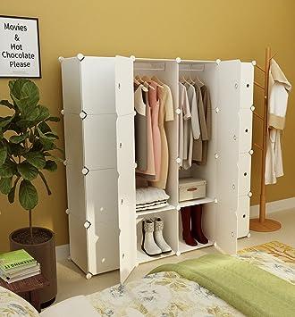 KOUSI Portable Clothes Closet Wardrobe Bedroom Armoire Storage Organizer  With Doors, Capacious U0026 Sturdy.
