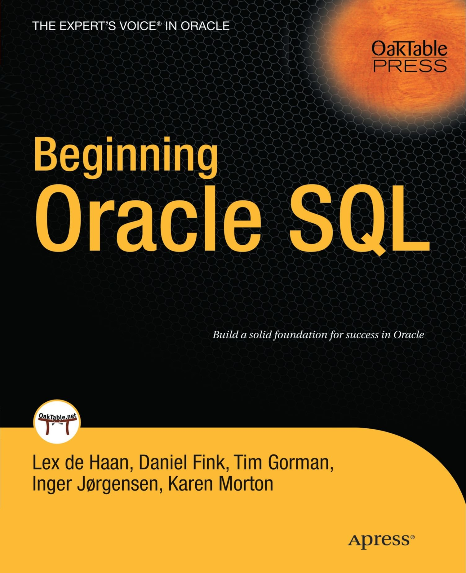 Beginning Oracle SQL by Apress
