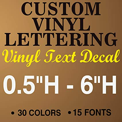 jby graphics custom vinyl lettering decal personalized sticker window text city name car vehicle business store