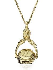 "1928 Jewelry Rotating Trio Locket Necklace, 30"""