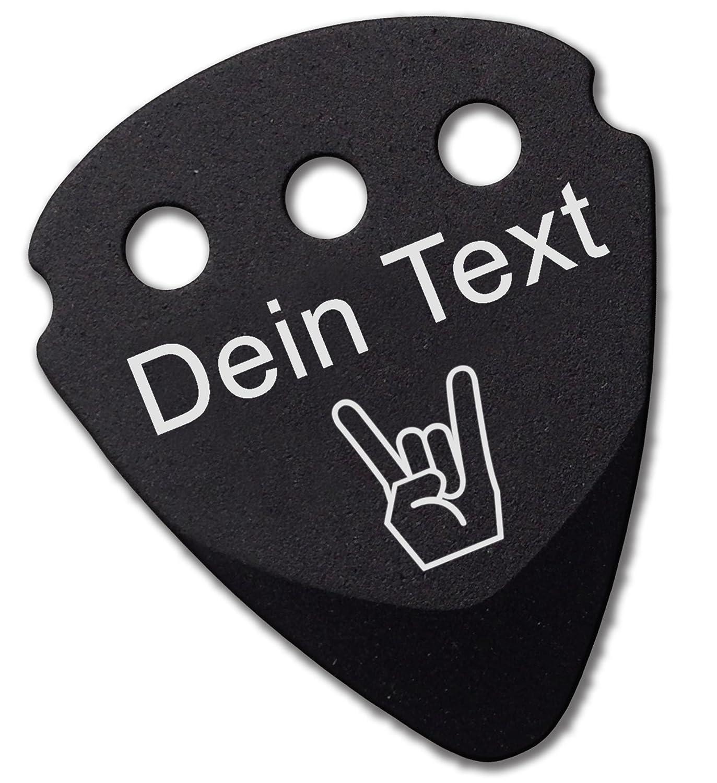 Plektrum | persönlicher Gravur von Text Namen und Symbolen | Dunlop Teckpick Aluminium Schwarz | Geschenk für Musiker und Gitarristen Martin Wöhry GmbH