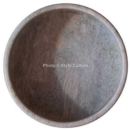 Amazon Com Stylo Culture Round Marble Tray Bathroom Tray Marble