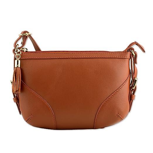 Novica Leather shoulder bag, Ready Russet