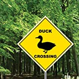 "Duck Crossing Sign - 22"" Diamond Shaped"