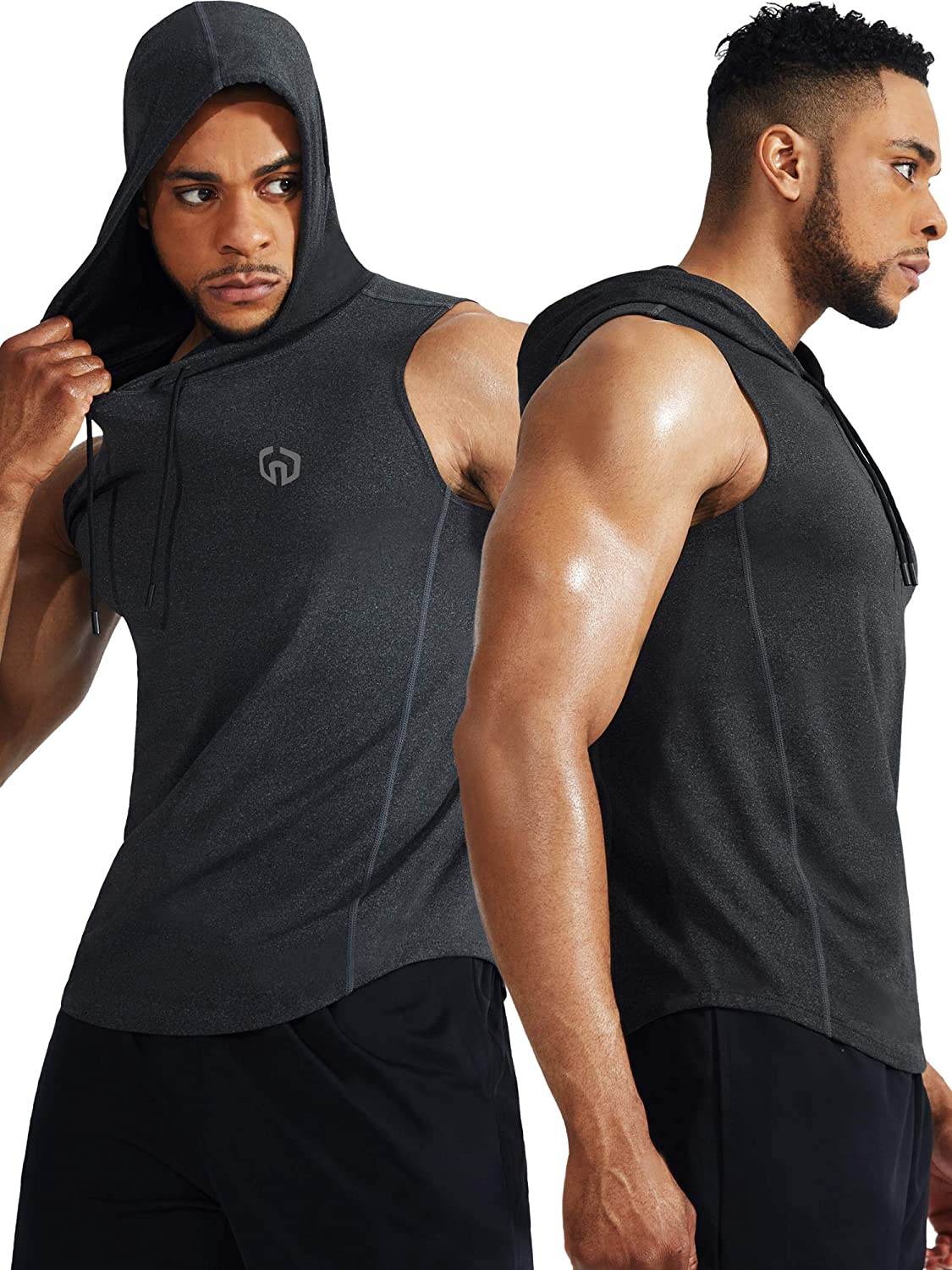 Neleus Workout Athletic Muscle Tank with Hoods Pack of 3 at  Men's Clothing store