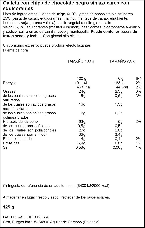 Diet Nature - Galletas Chip Choco - 125 g: Amazon.es: Alimentación y bebidas
